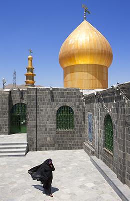 Woman in burka, Emamzadeh Hashem, Iran